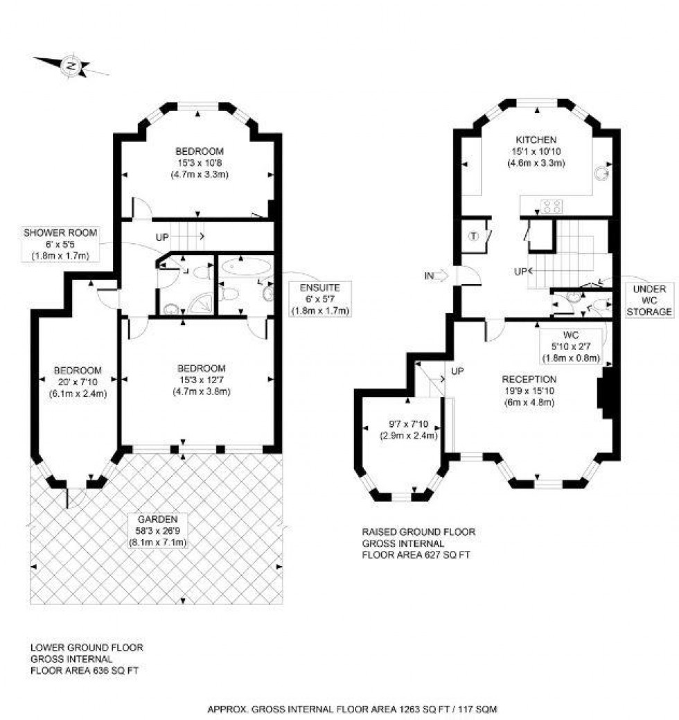 Floorplan for Chesterford Gardens, Hampstead, London