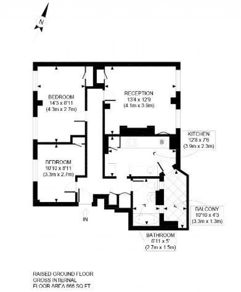 Floorplan for King Henrys Road, Primrose Hill, London