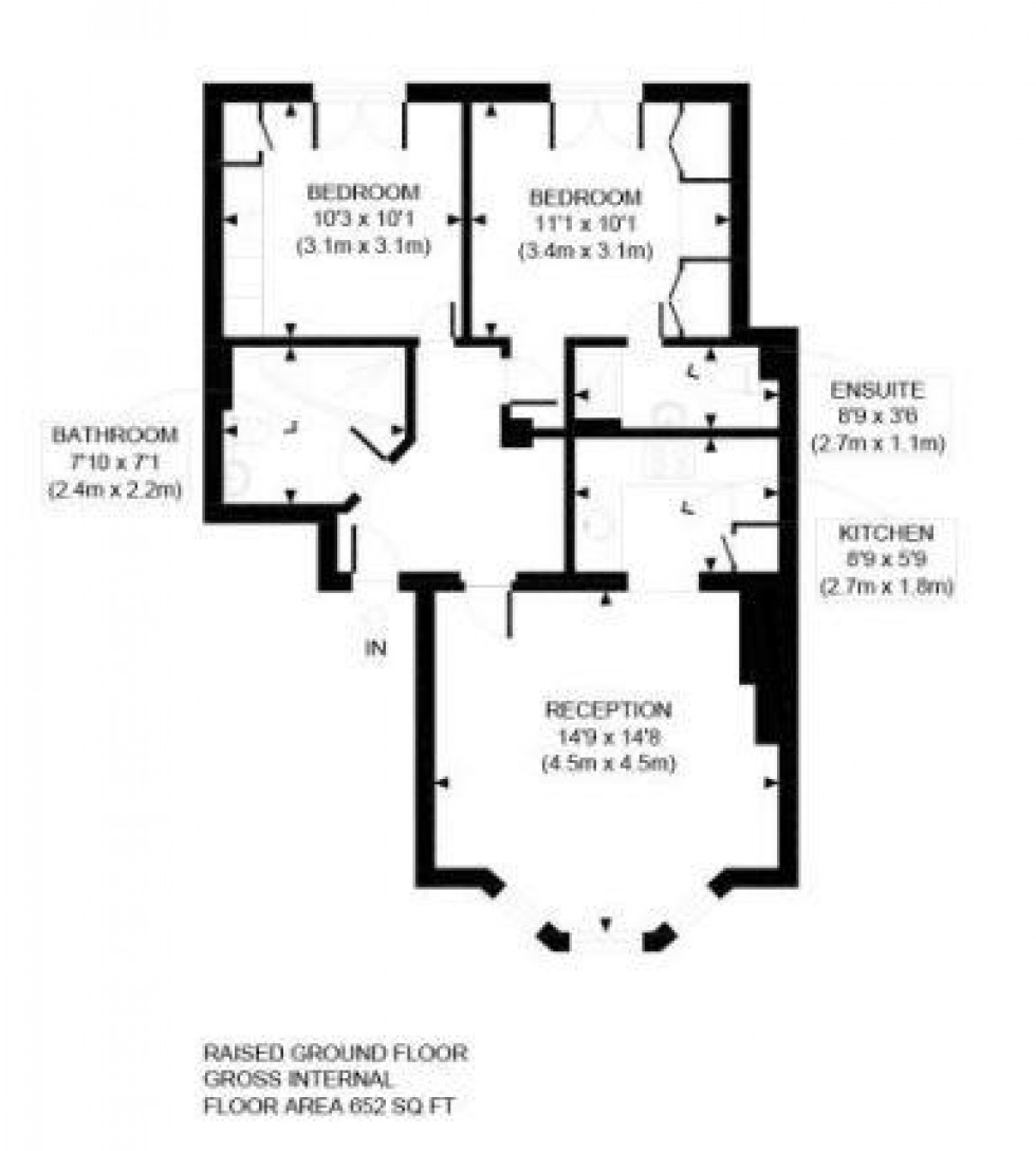 Floorplan for Parkhill Road, Belsize Park, London