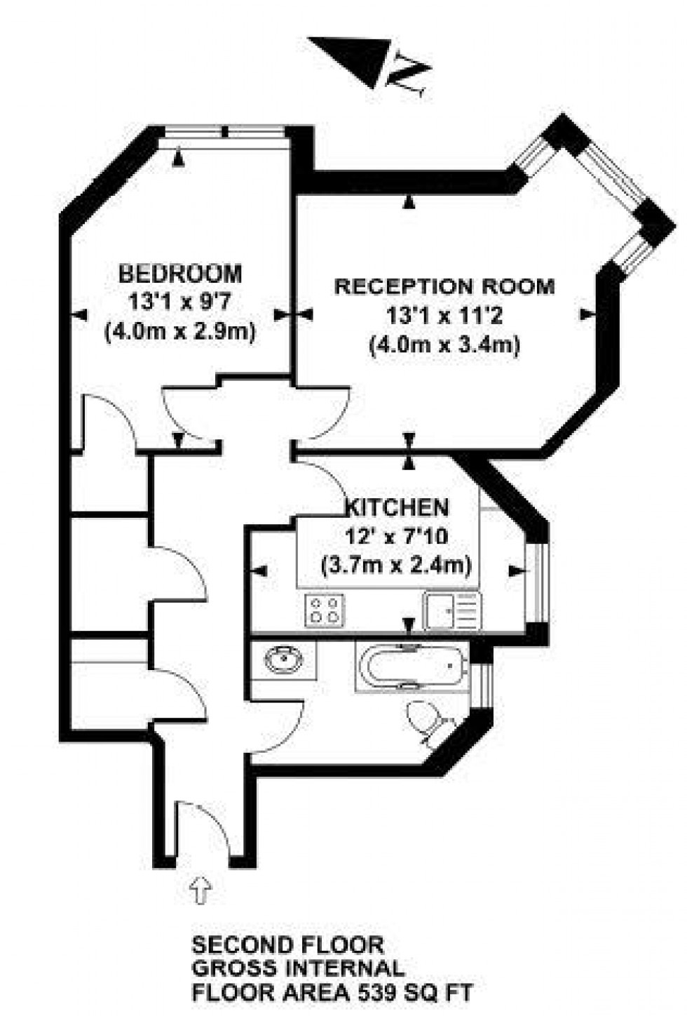 Floorplan for Lanark Mansions, Lanark Road, Maida Vale, London