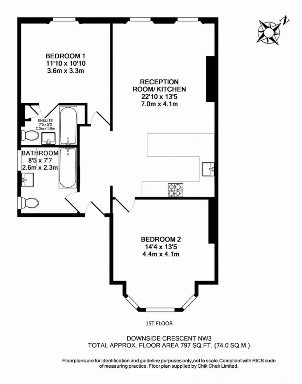 Floorplan for Downside Crescent, Belsize Park, London