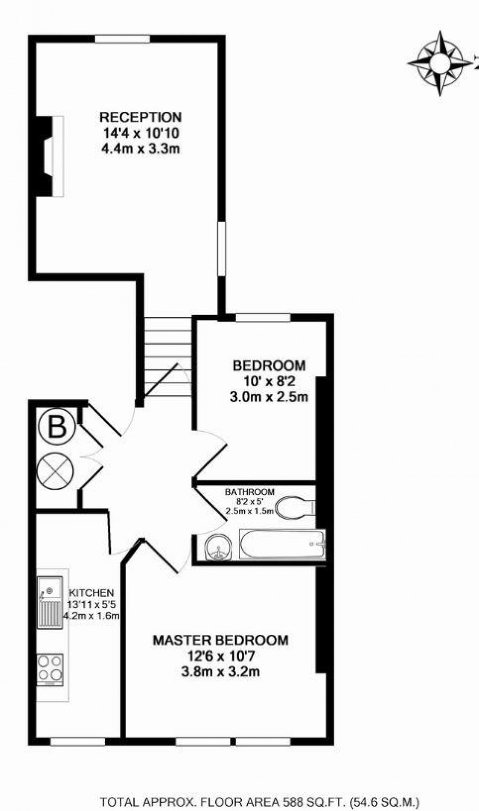 Floorplan for Fernhead Road, Maida Vale, London