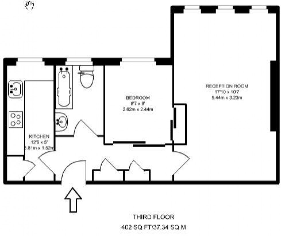 Floorplan for Hillside Court, Finchley Road, London