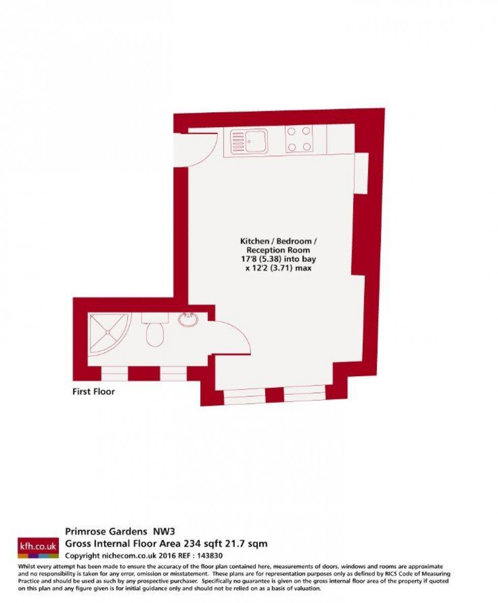 Floorplan for Primrose Gardens, Belsize Park, London
