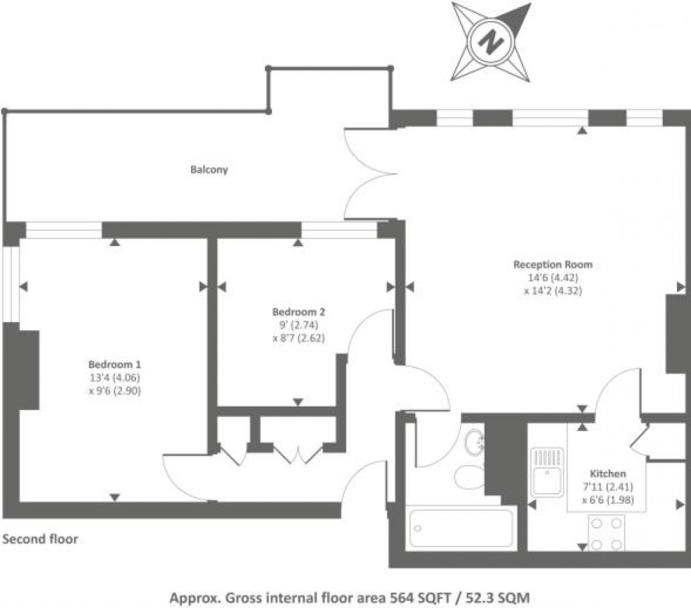 Floorplan for Frognal, Hampstead, London