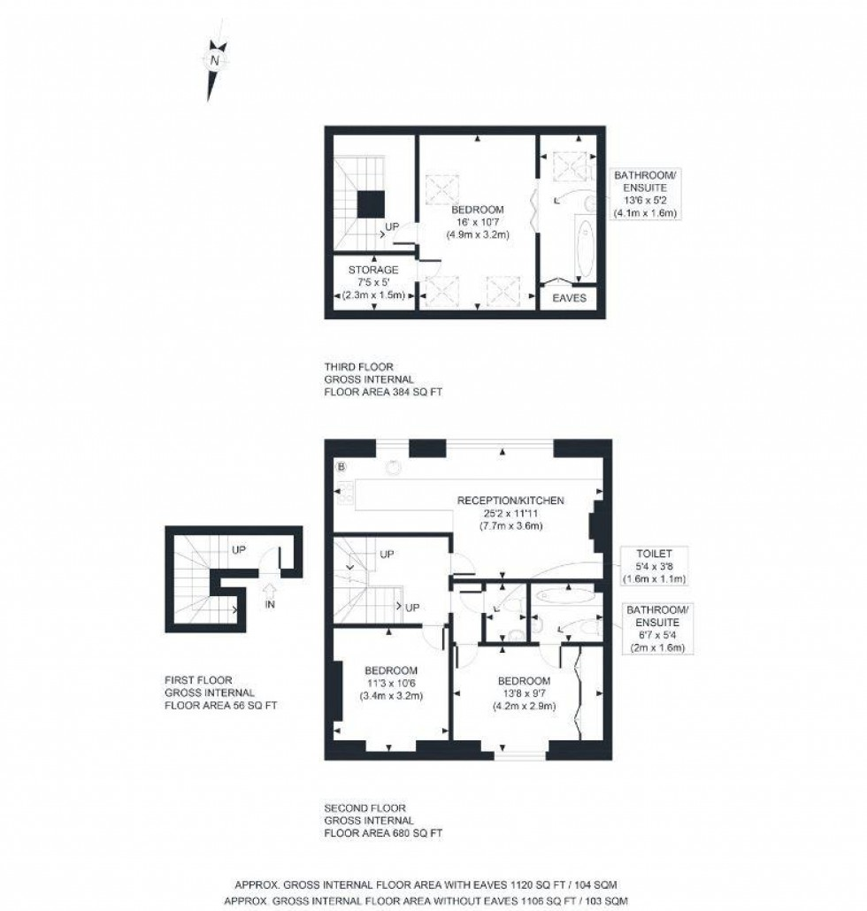 Floorplan for Glenloch Road, Belsize Park, London