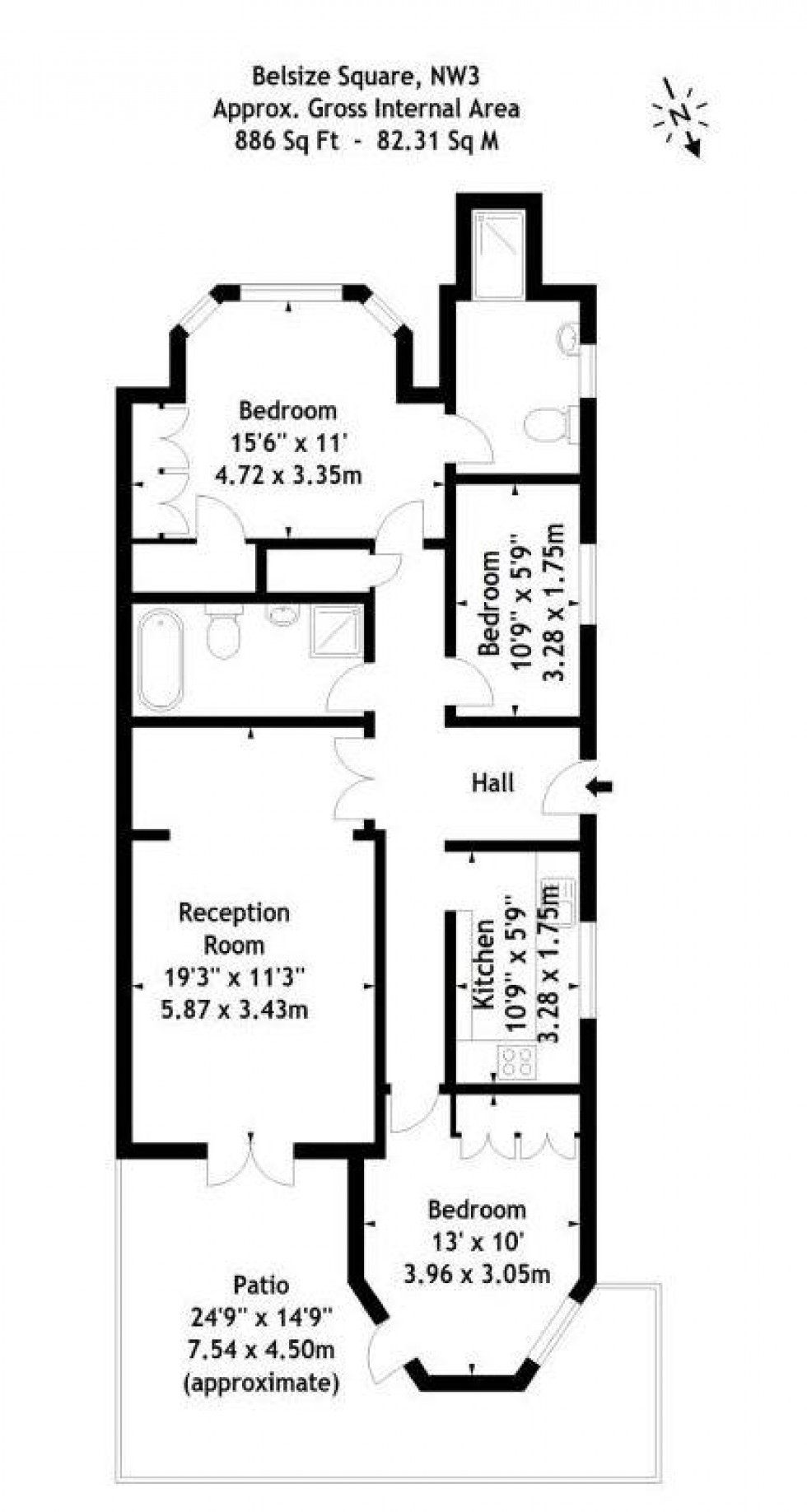 Floorplan for Belsize Square, Belsize Park, London