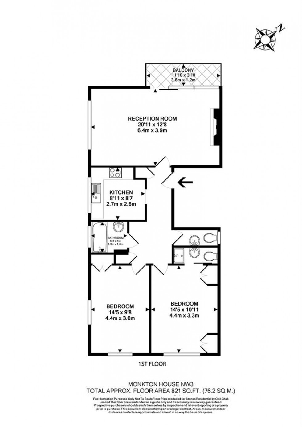 Floorplan for Haverstock Hill, Belsize Park, London