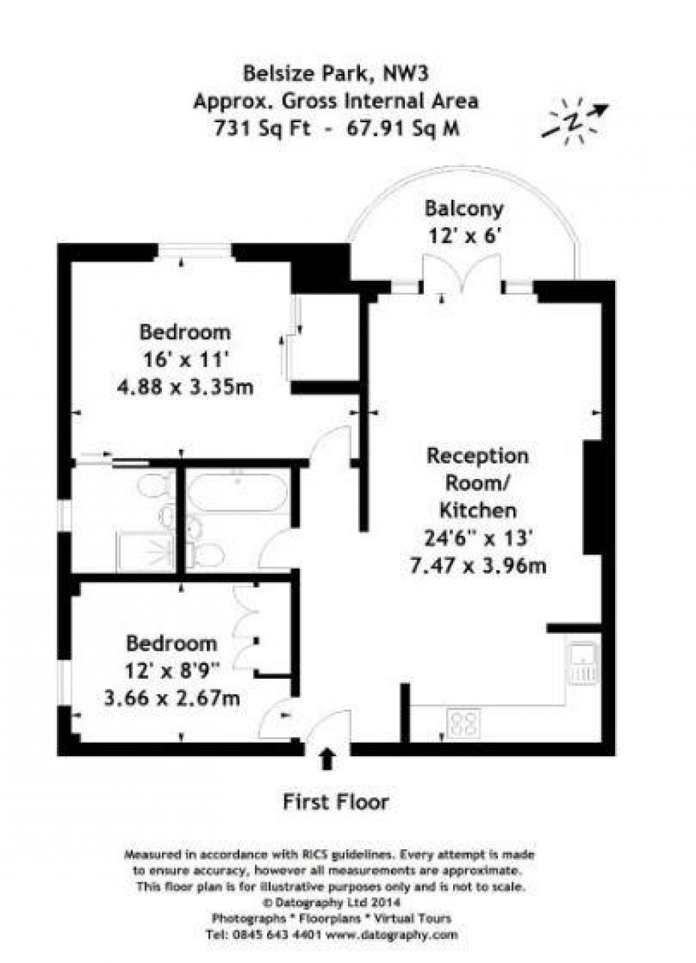 Floorplan for Belsize Park, Belsize Park, London