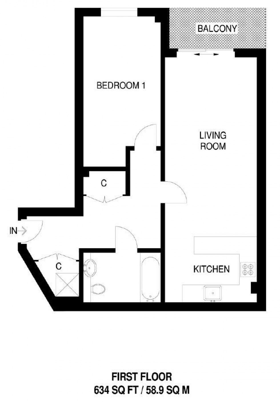 Floorplan for Chapman Apartments, Beaufort Park, London