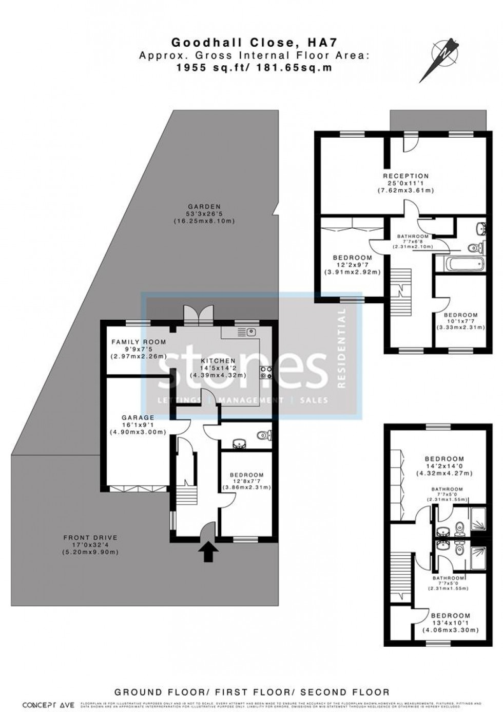 Floorplan for Goodhall Close, Stanmore