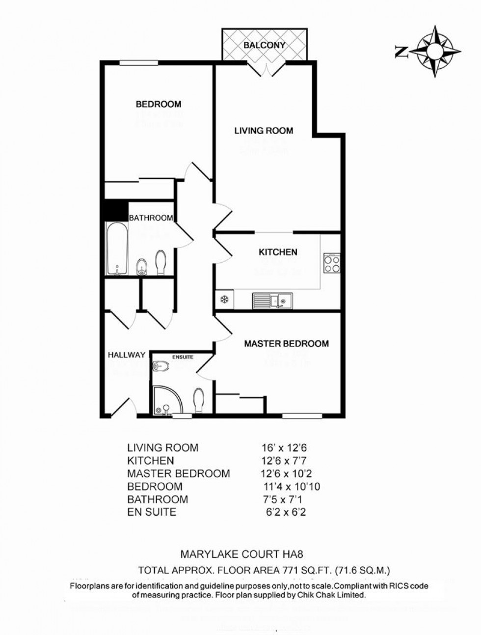 Floorplan for Marylake Court, Whitchurch Lane, Edgware