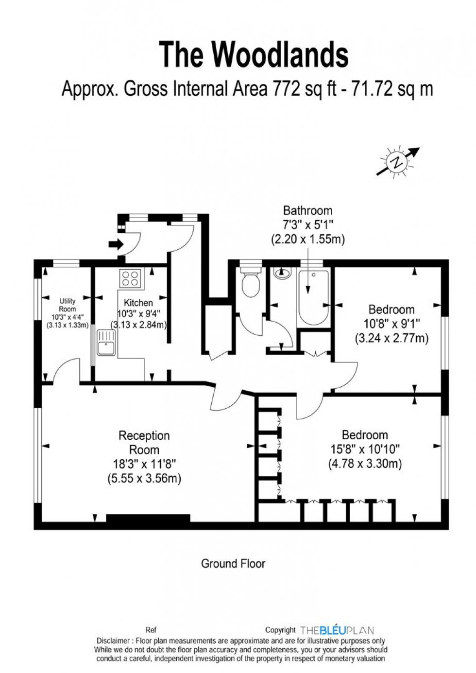 Floorplan for The Woodlands, Stanmore, HA7