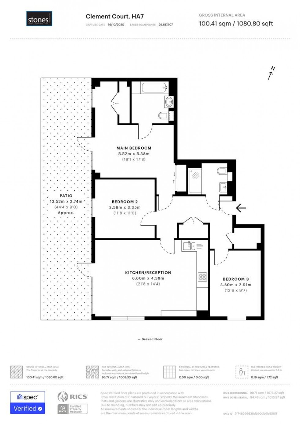 Floorplan for STANMORE PLACE