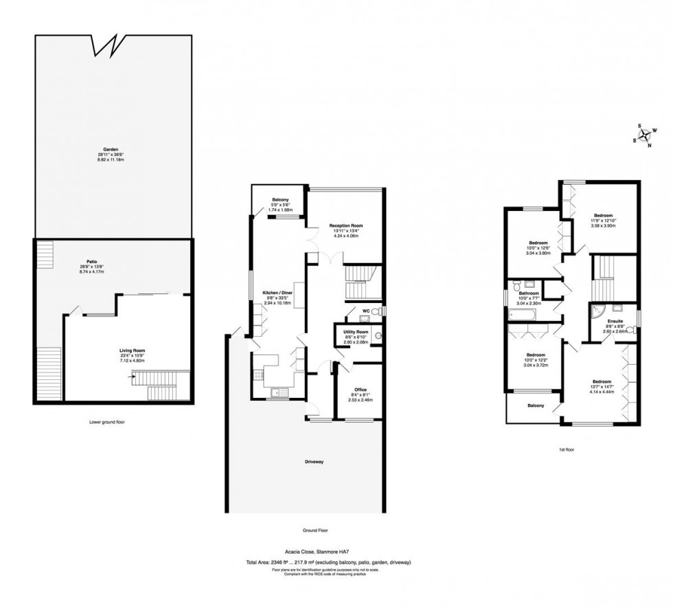 Floorplan for Acacia Close, Stanmore