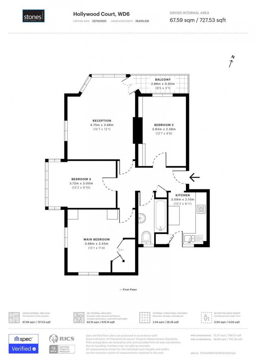 Floorplan for Deacons Hill Road, Elstree, Borehamwood