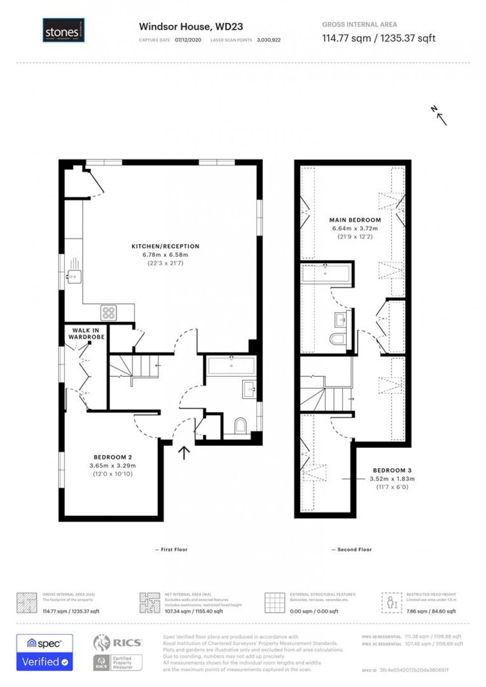 Floorplan for King Edward Place, Bushey