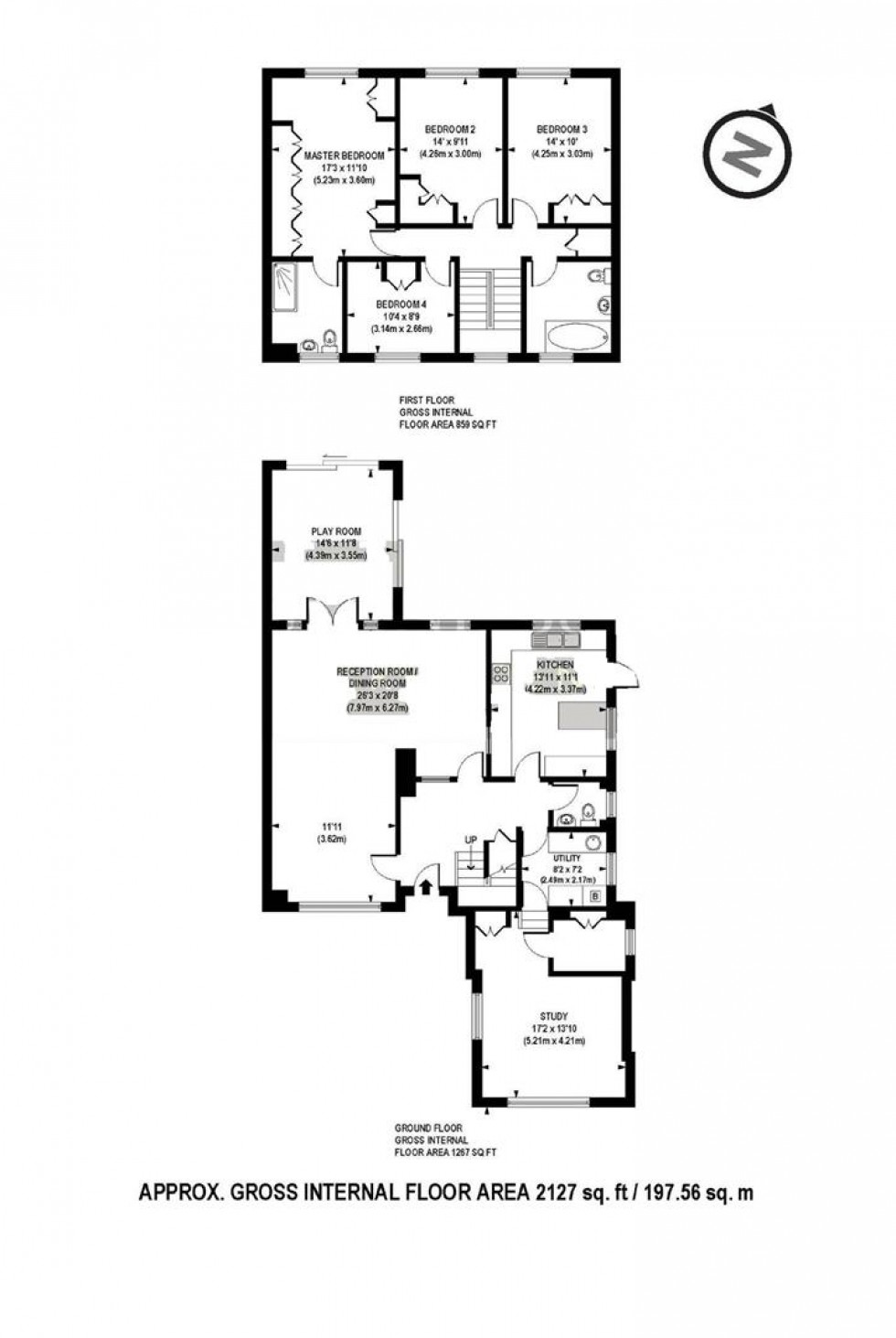 Floorplan for White Orchards, Stanmore, HA7
