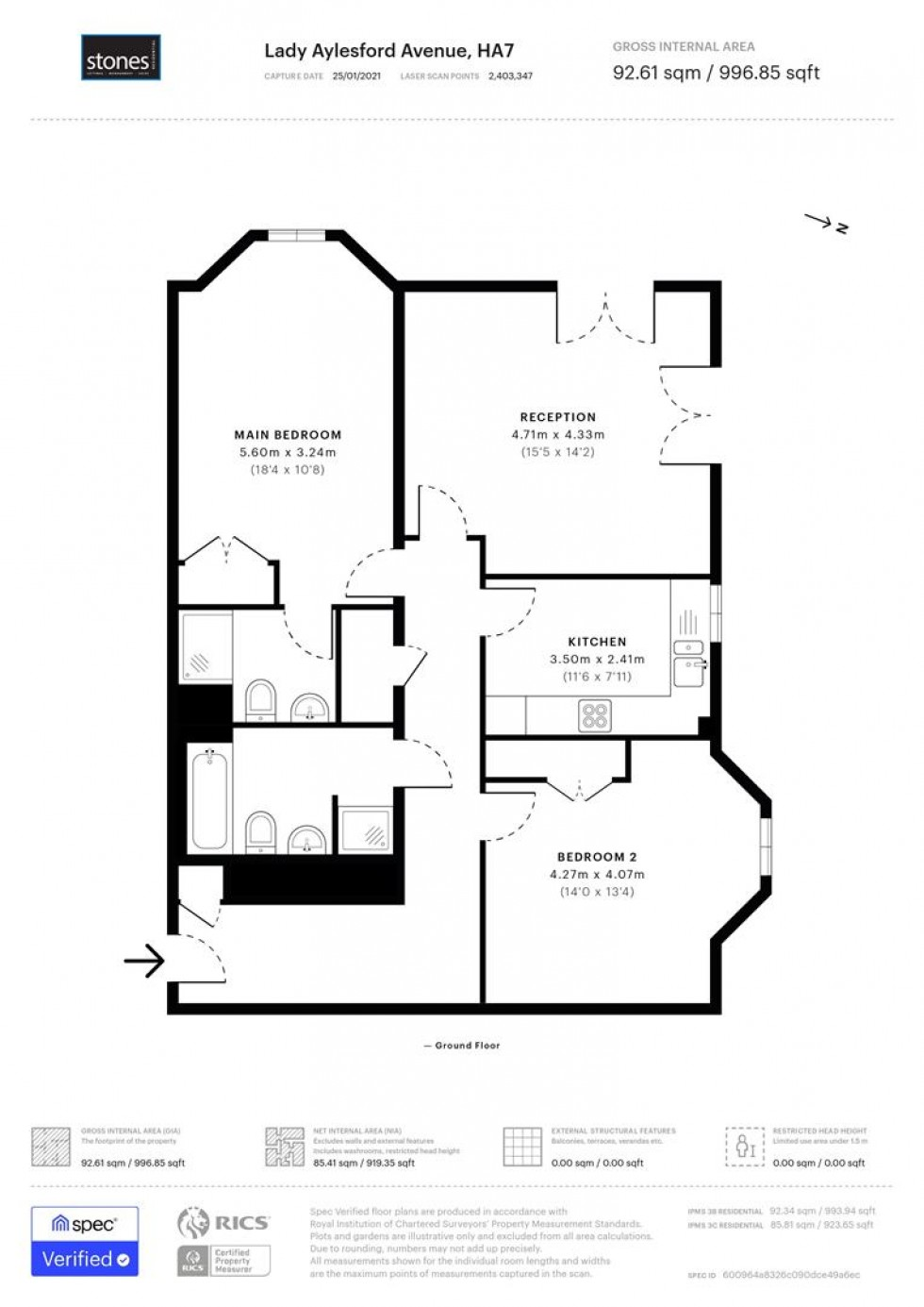Floorplan for Lady Aylesford Avenue, Stanmore, HA7
