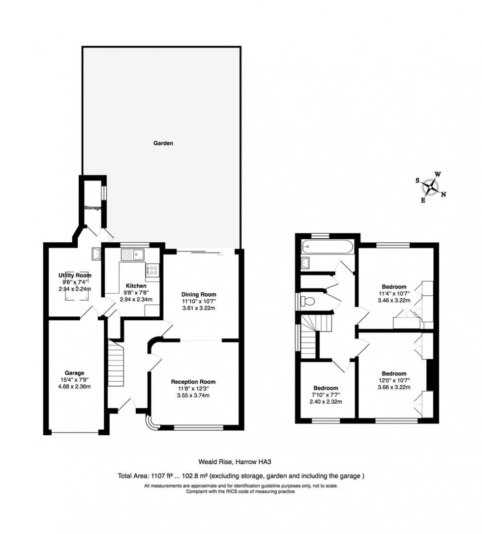 Floorplan for Weald Rise, Harrow