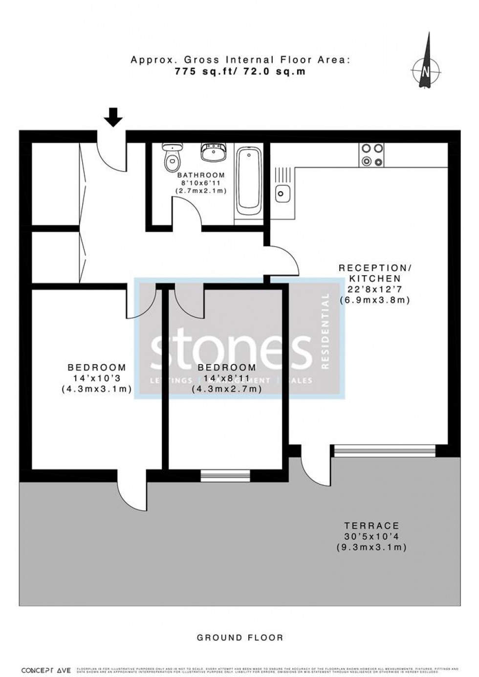 Floorplan for Stanmore Place, HA7