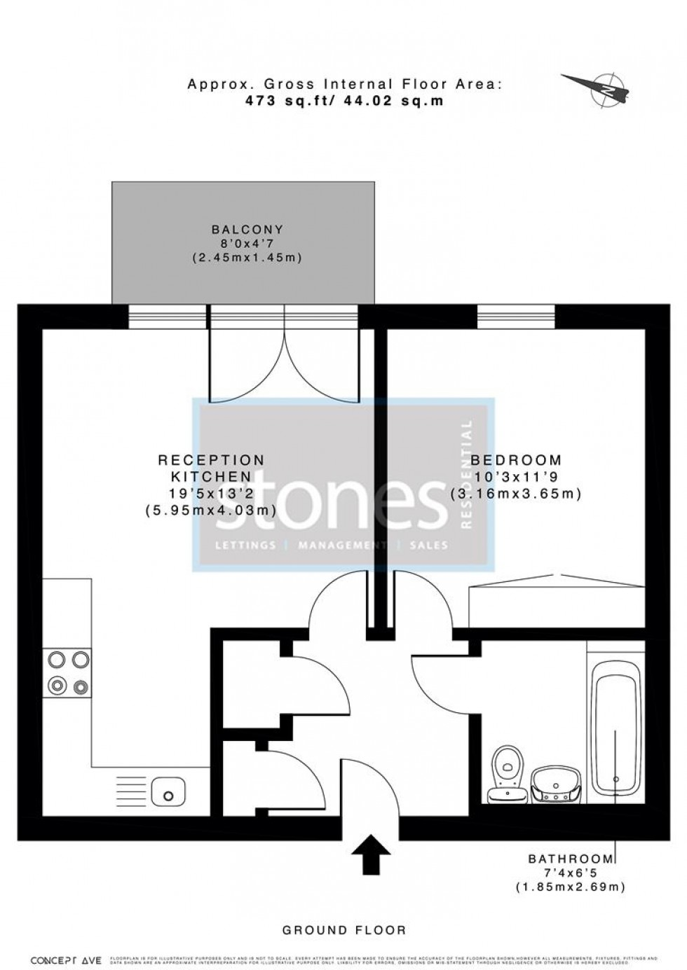 Floorplan for Edgware