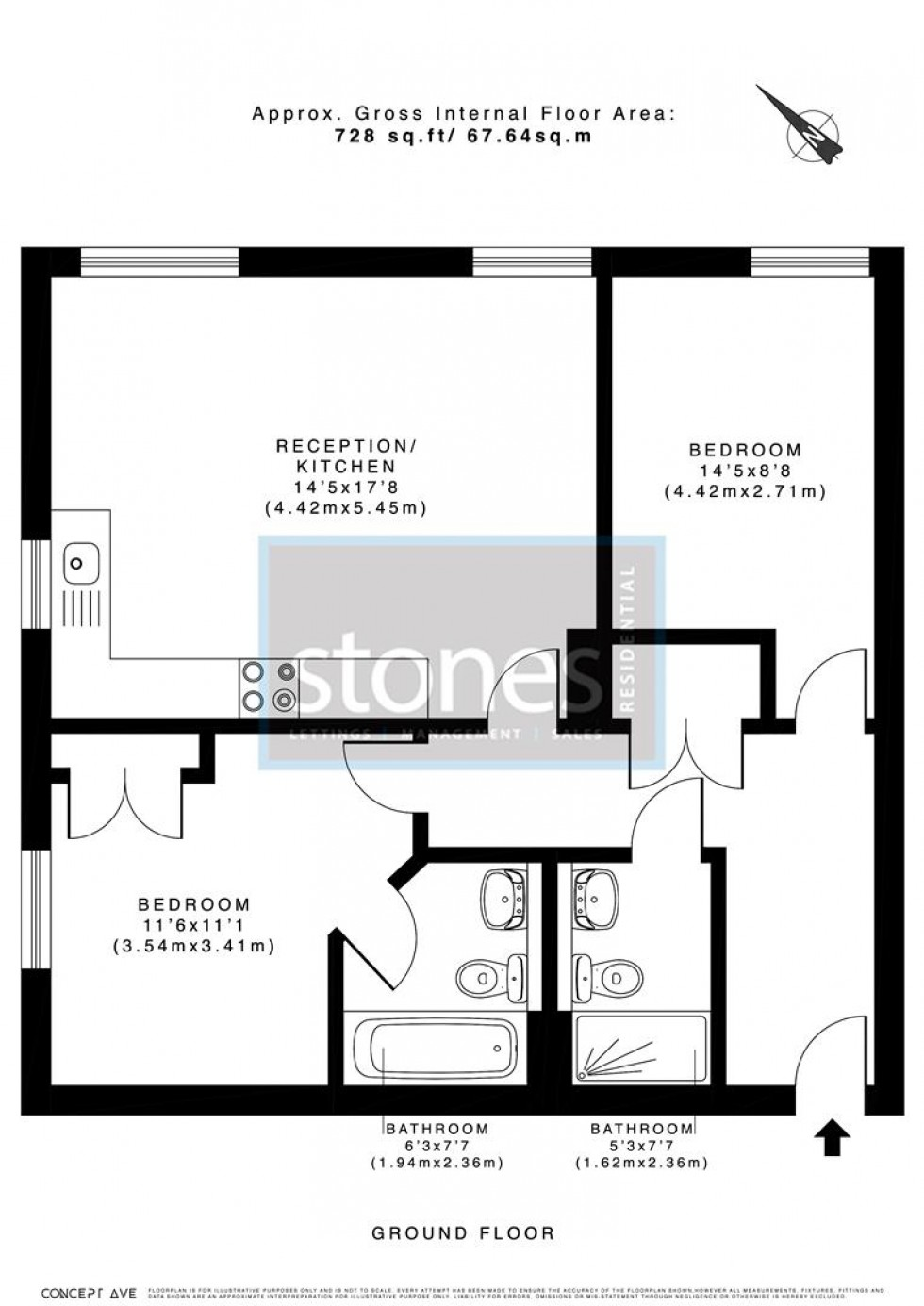Floorplan for Victoria Court, Stanmore Place, HA7