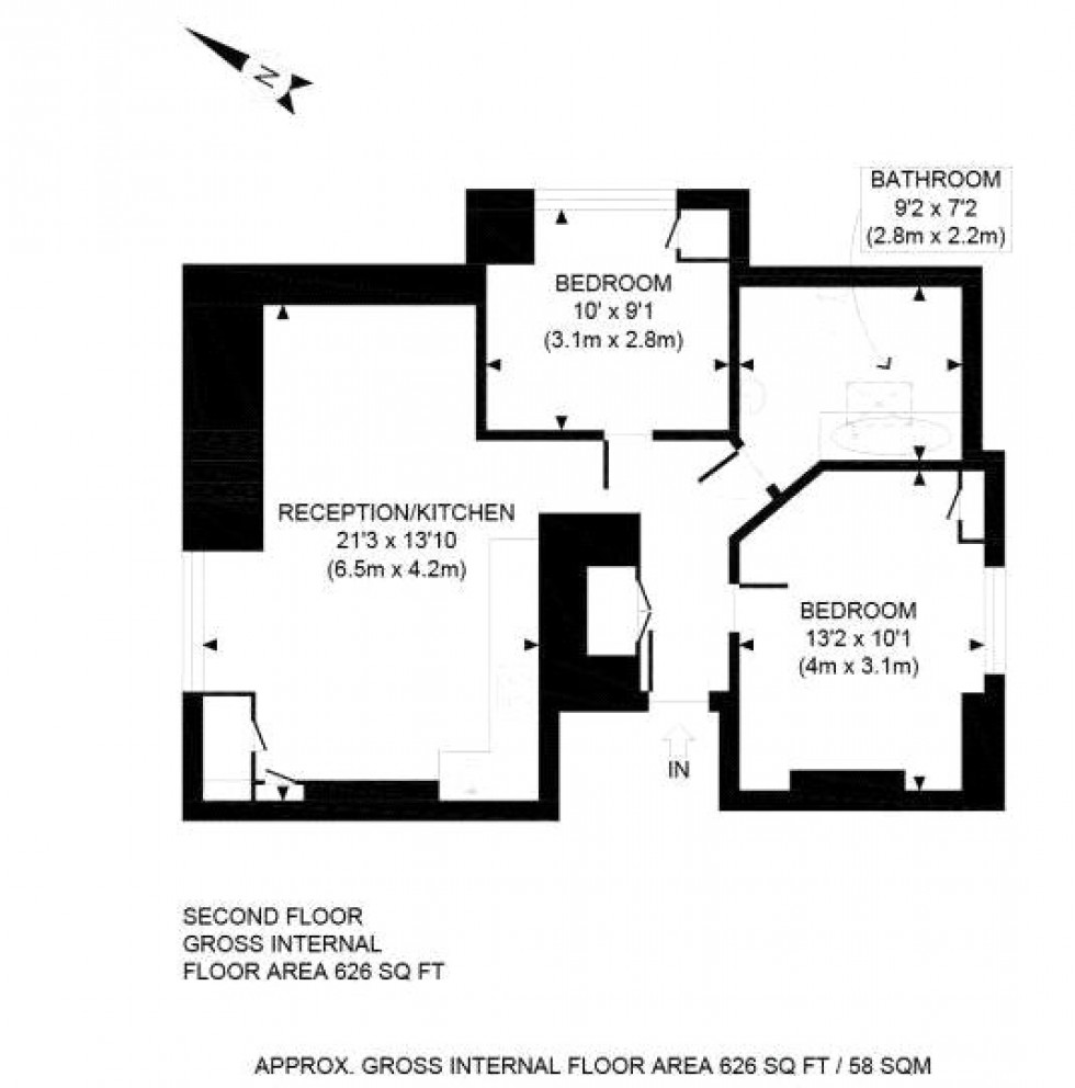 Floorplan for Kilburn, London