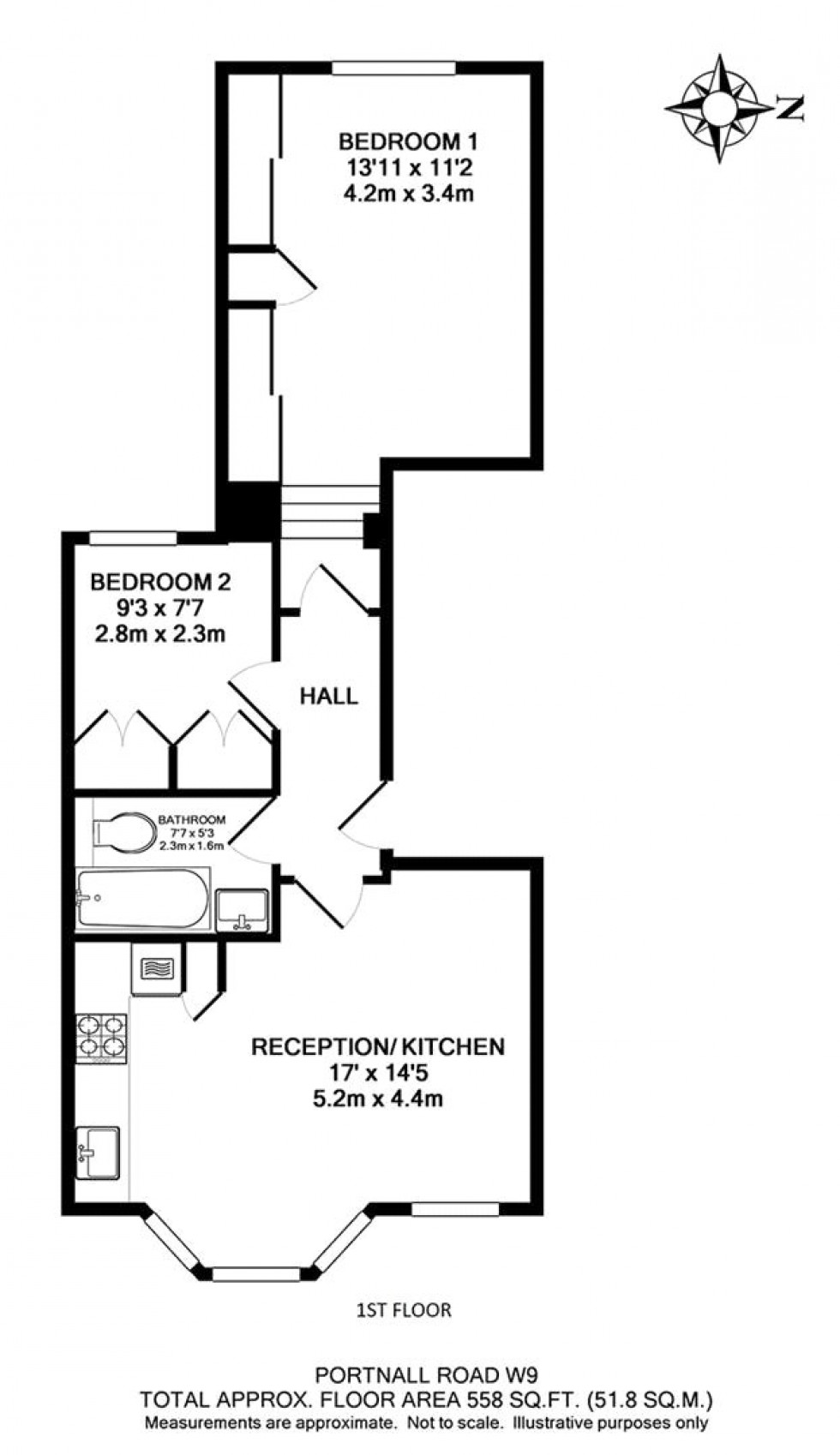 Floorplan for Maida Vale, London
