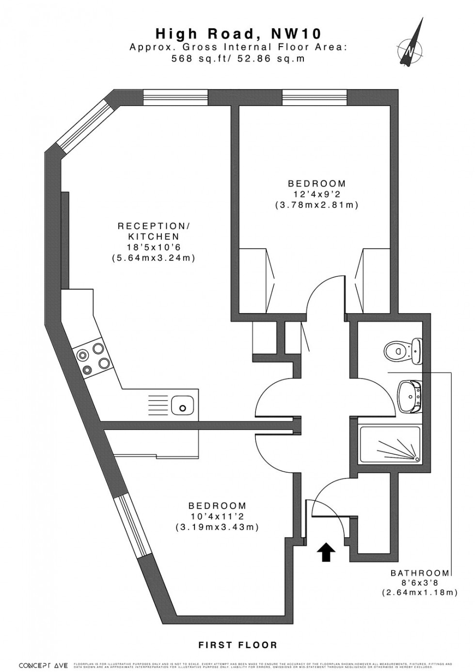 Floorplan for Willesden, London